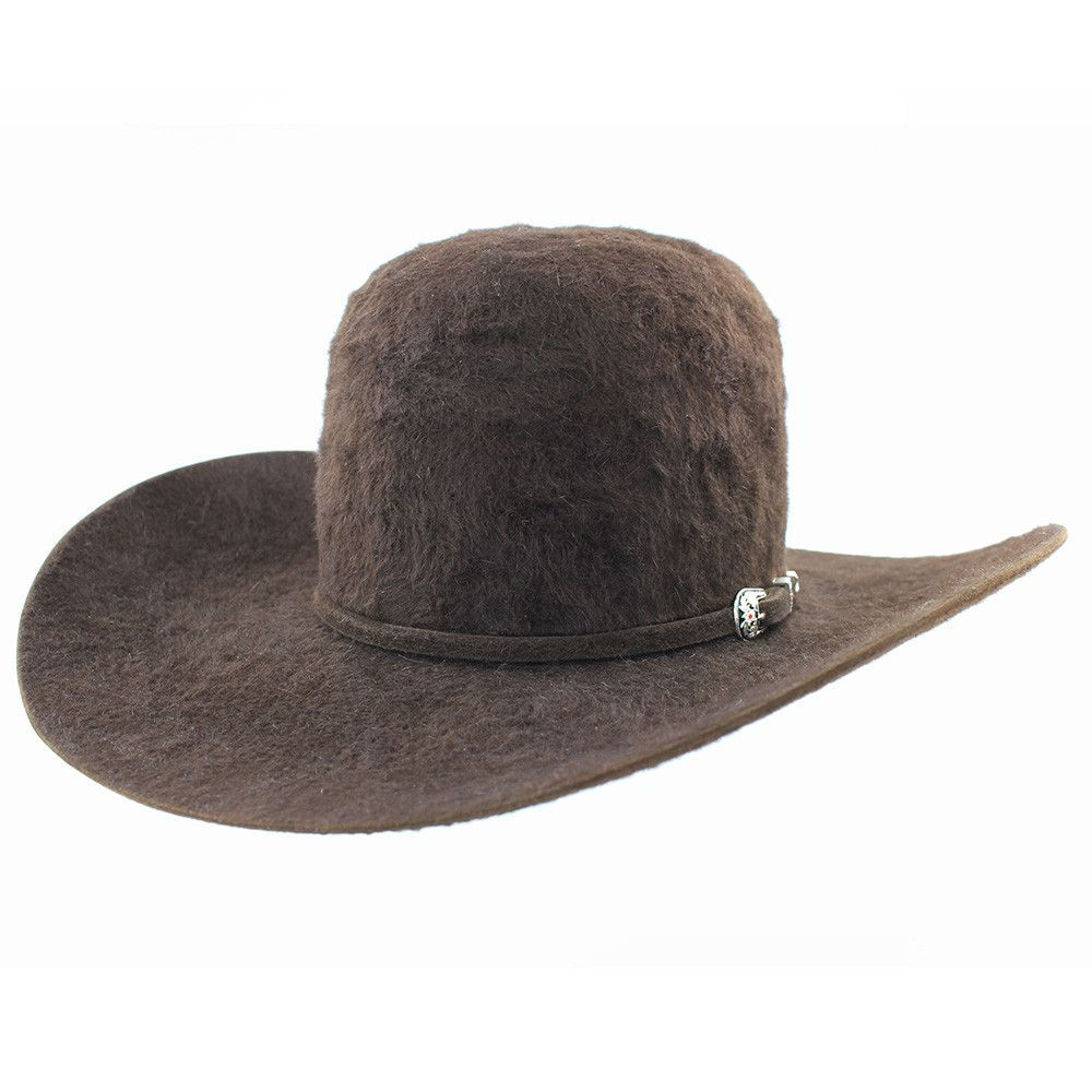 47b401037e7 American Hat Company 20x Chocolate Grizzly Open Crown Felt Hat