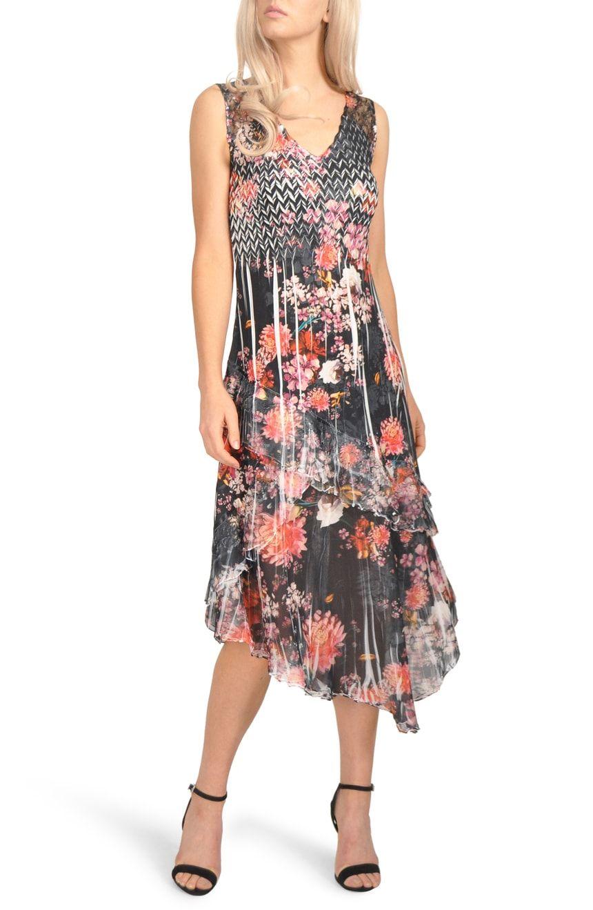 cc8672a3fb3 Komarov Asymmetrical Hem Midi Dress (Regular   Petite)