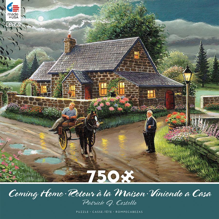 11 99 Ceaco Coming Home Puzzle Lakeside Cottage Patrick J Costello 750 Pcs 2927 3 Ebay Collectibles Lakeside Cottage Cottage Puzzles Lakeside