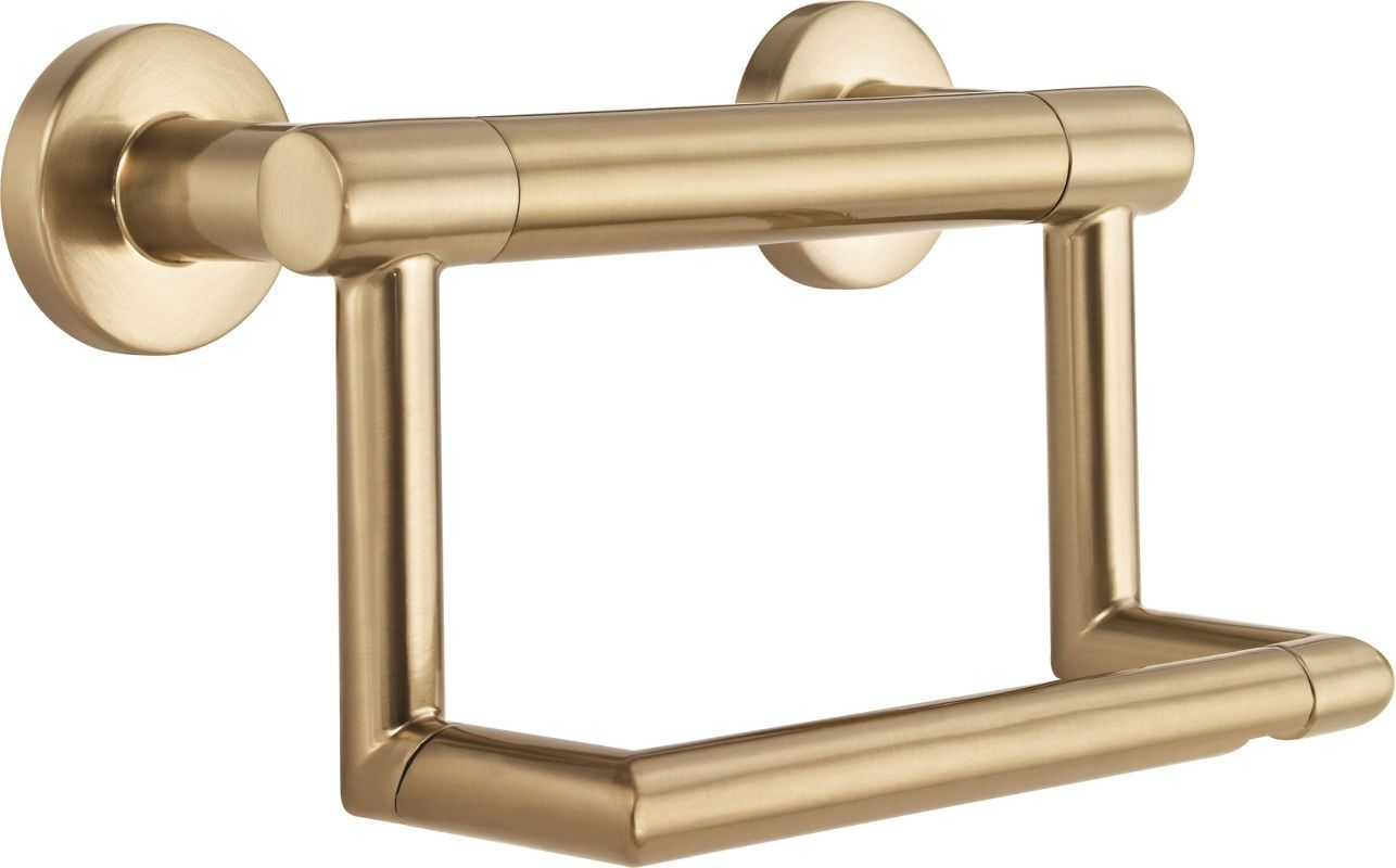 Delta 41550 Chrome Decor Assist Wall Mounted Toilet Paper Holder Toilet Paper Holder Wall Mounted Toilet Paper Holder