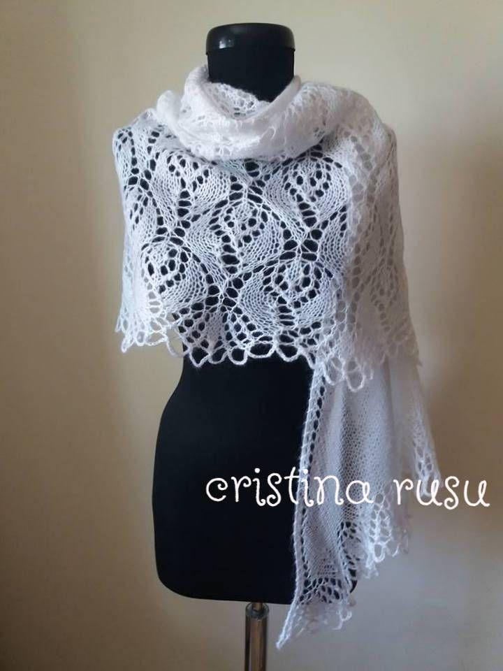 White knit lace shawl, hand knitted lace stole,mohair shawl, white wedding shawl, bridal wrap, mohair  shawl,bolero by CrisColourCrochet on Etsy