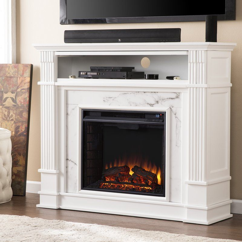 Chesterbrook Electric Fireplace Hides Dvd And Similar Clutter