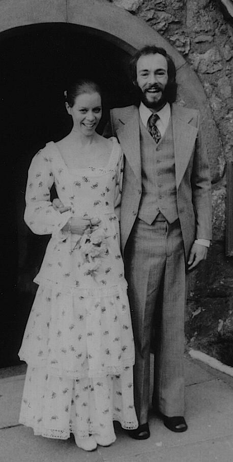 Laura Ashley memory of the day! Lee Scott wearing Laura Ashley on her wedding day in March 1973  via http://www.fashionmuseum.co.uk/