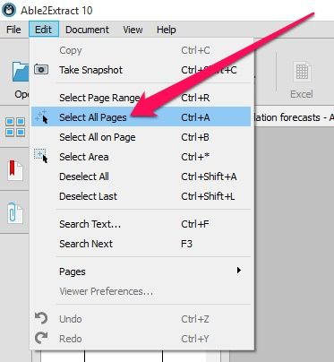 Can you convert a pdf to excel