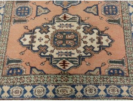 Persian Oriental Rug, 4' 8 x 7' 3 Light Salmon Meshkin