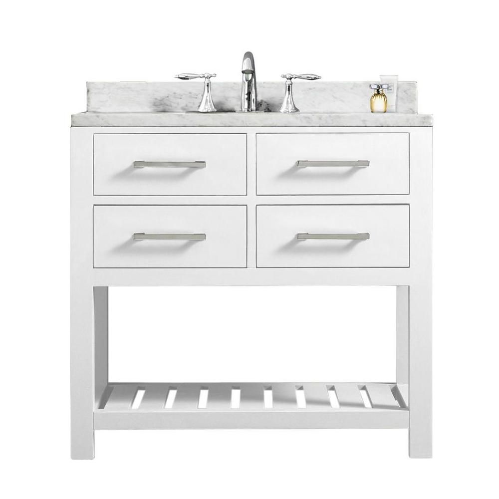 Images Of Water Creation Madalyn inch Solid White Single Sink Bathroom Vanity Overstock Shopping