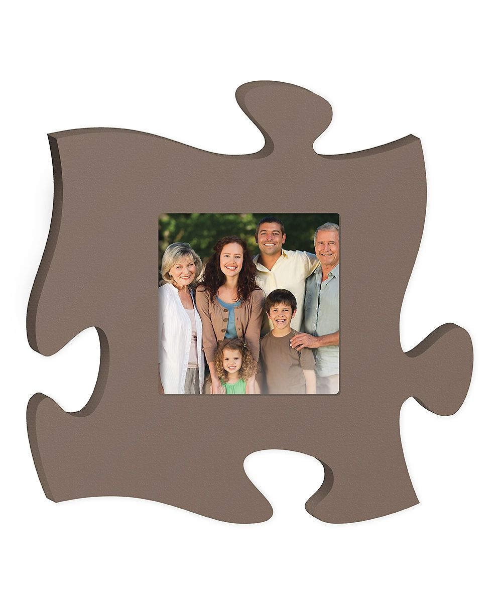 Brown Puzzle Piece Frame Puzzle picture frame, Frame