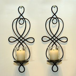 Wall Hanging Candle Holders shop for adeco brown iron vertical wall hanging candle holder