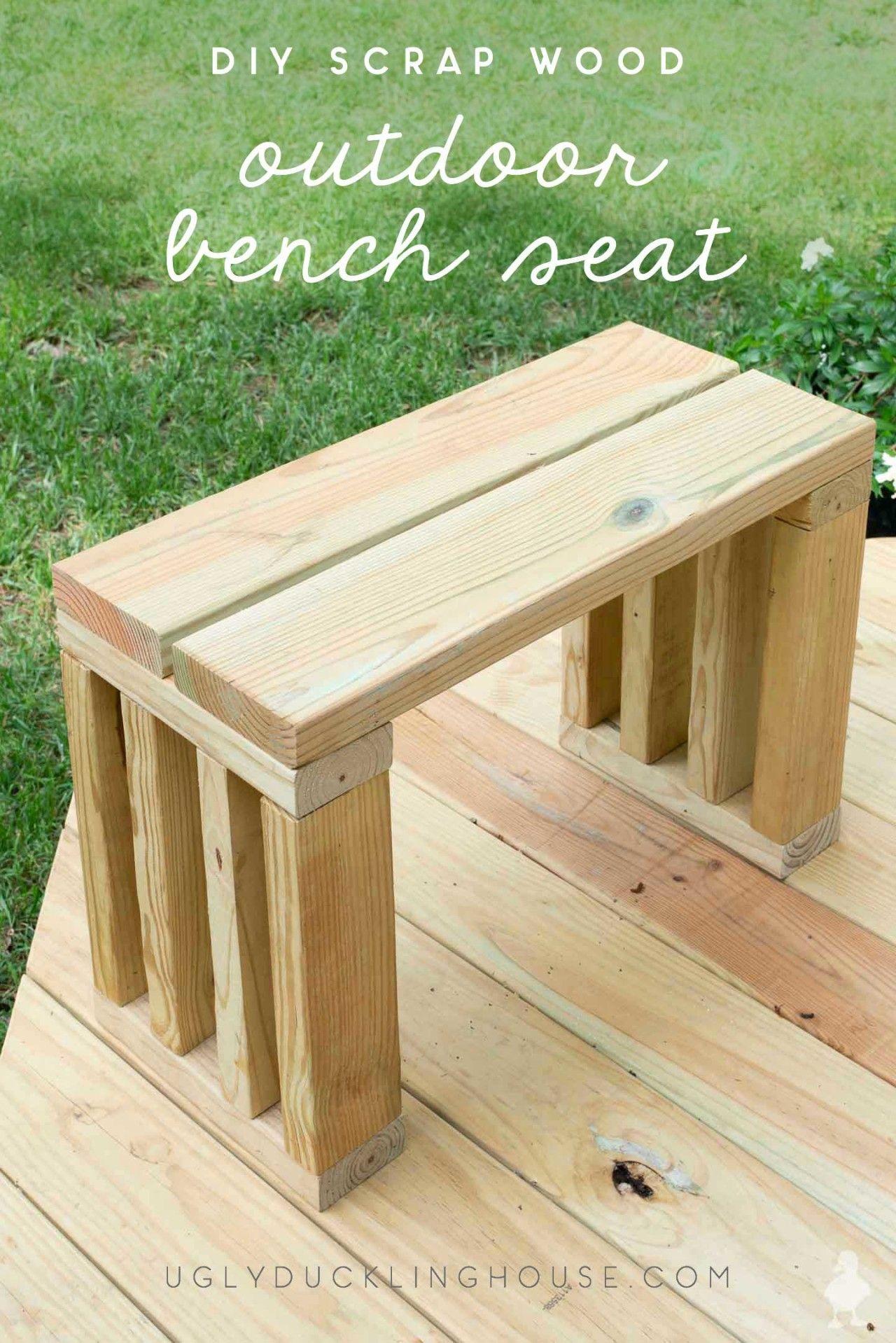 DIY Outdoor Bench Seat Outdoor furniture plans, Diy