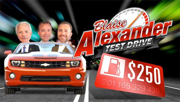 Blaise Alexander Test Drive Contest