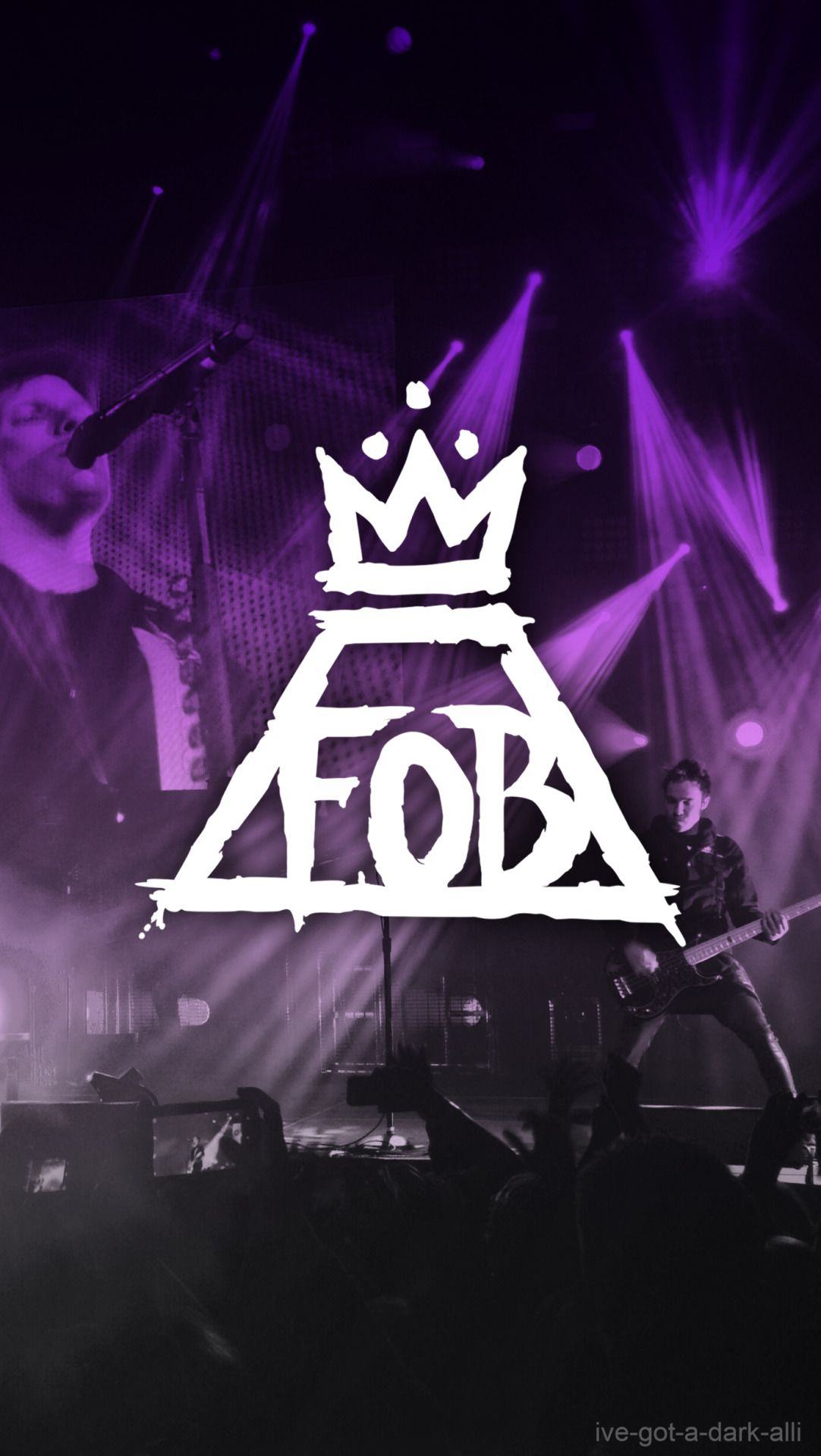 Fall Out Boy Lockscreens In Purple Not My Pictures Just My Edit Please Reblog If You Use Save Fall Out Boy Wallpaper Boys Wallpaper Emo Wallpaper