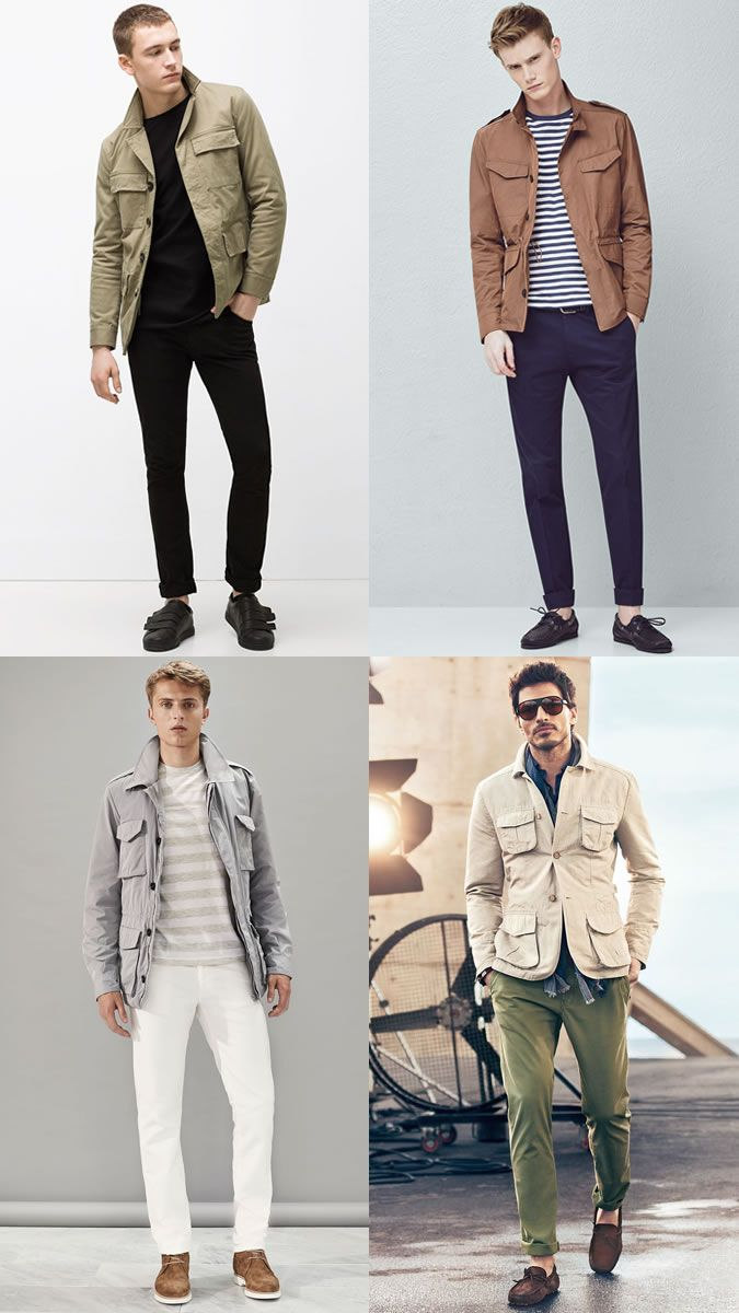 841eb468956b Men s Field Safari Jackets Worn Casually - Fashion Outfit ...