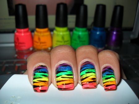 colorful nails in 2019