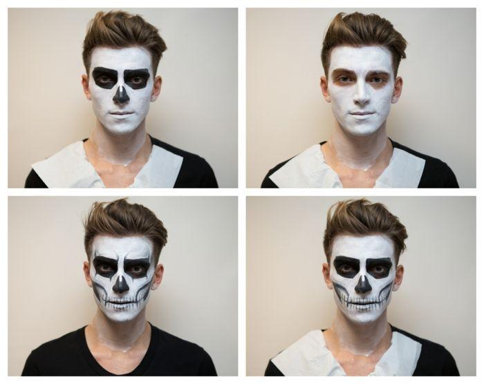 1001 Idées Pour Votre Maquillage De Halloween Squelette