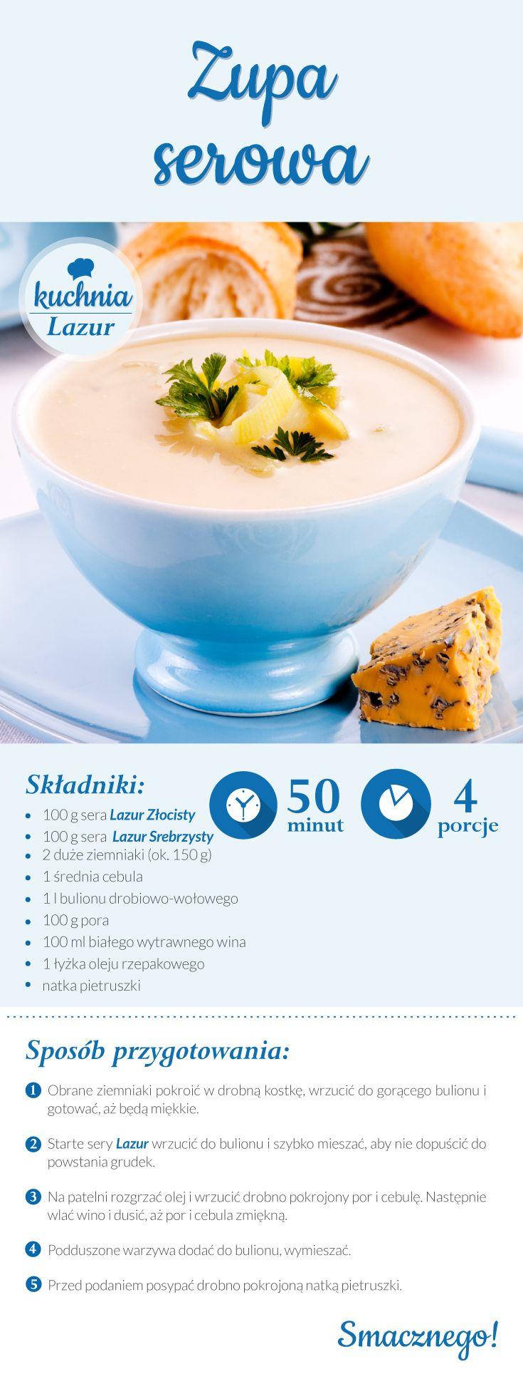 Zupa serowa /zupa /ser /Lazur /ser pleśniowy /rokpol /przepisy ...