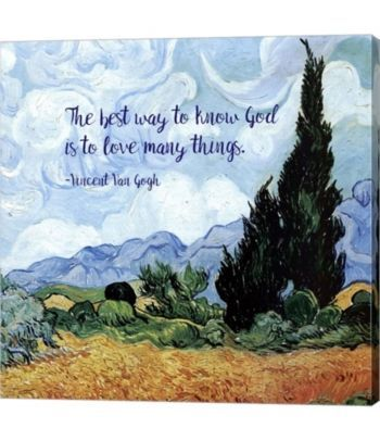 Metaverse Know God - Van Gogh Quote 1 by Quote Master Canvas Art & Reviews - Home - Macy's