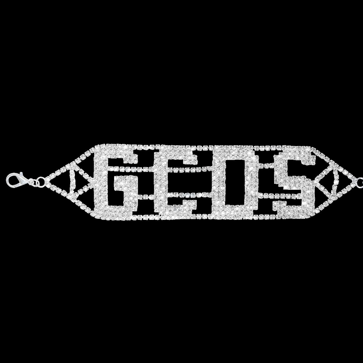 Logo Choker Silver Diamond | GCDS - In goal we trust