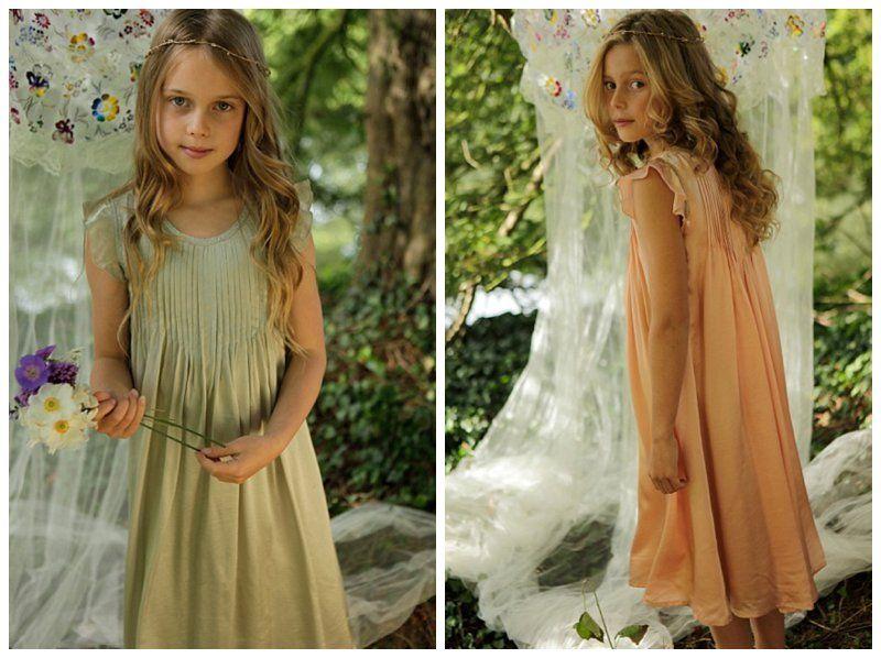 boho flower girl dress | Ethereal Boho Bridesmaid & Flower Girl Dresses