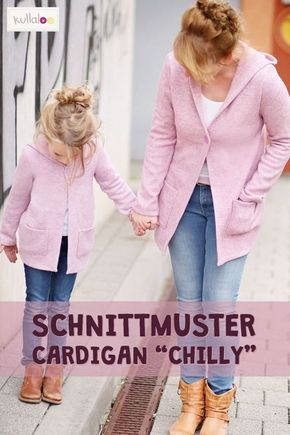 Cardigan Schnittmuster CHILLY für Kinder | kullaloo #freebookschnittmuster