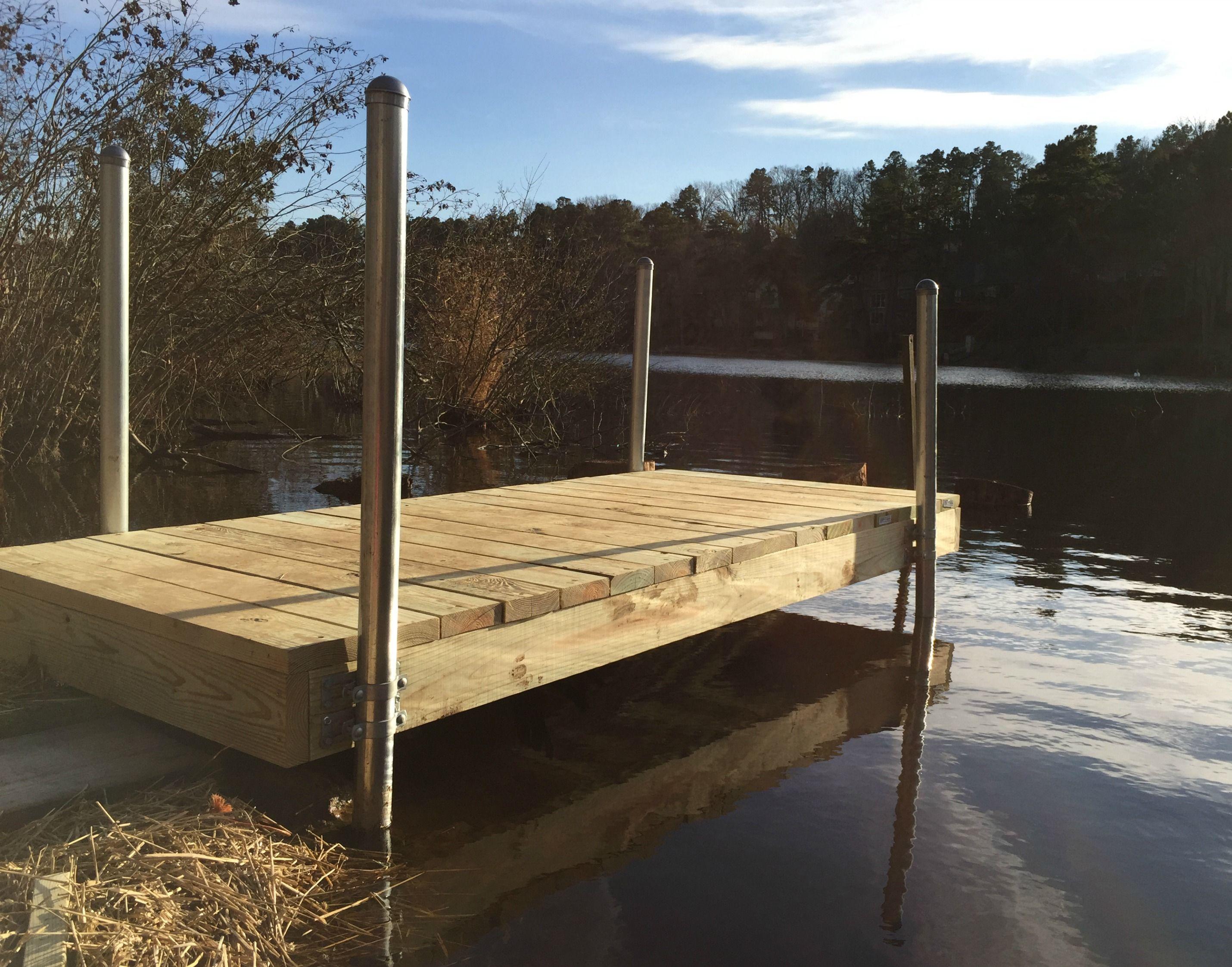 Build a diy boat dock pontons maison et chalet
