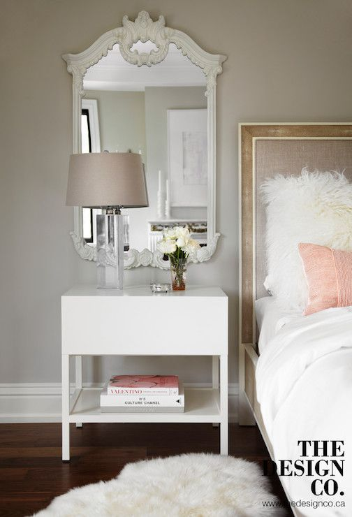 Mirror Over Nightstand Contemporary Bedroom The Design Company