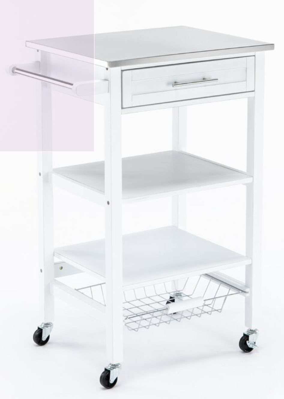 Brodnax Kitchen Cart With Stainless Steel Top In 2021 Kitchen Cart Rolling Kitchen Cart Cabinet Styles Stainless steel cart with drawer