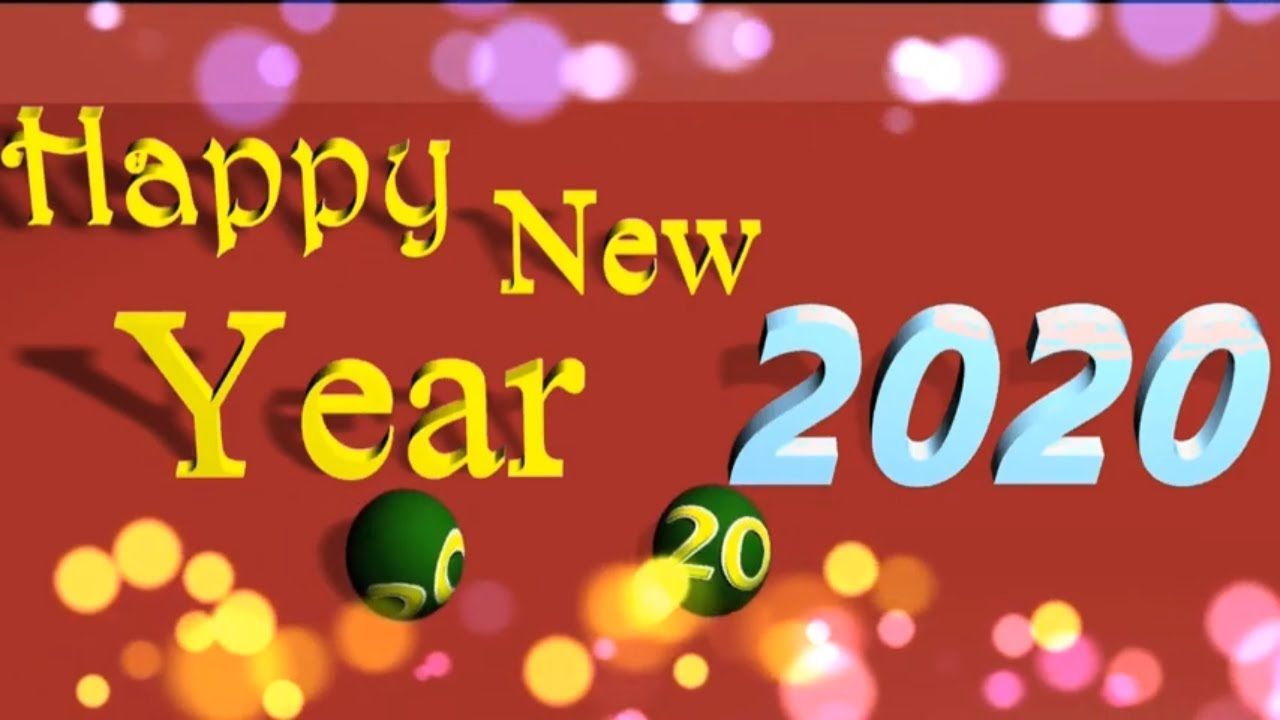 Happy New Year 2020 3d Greeting Card Greeting Card Video Happy
