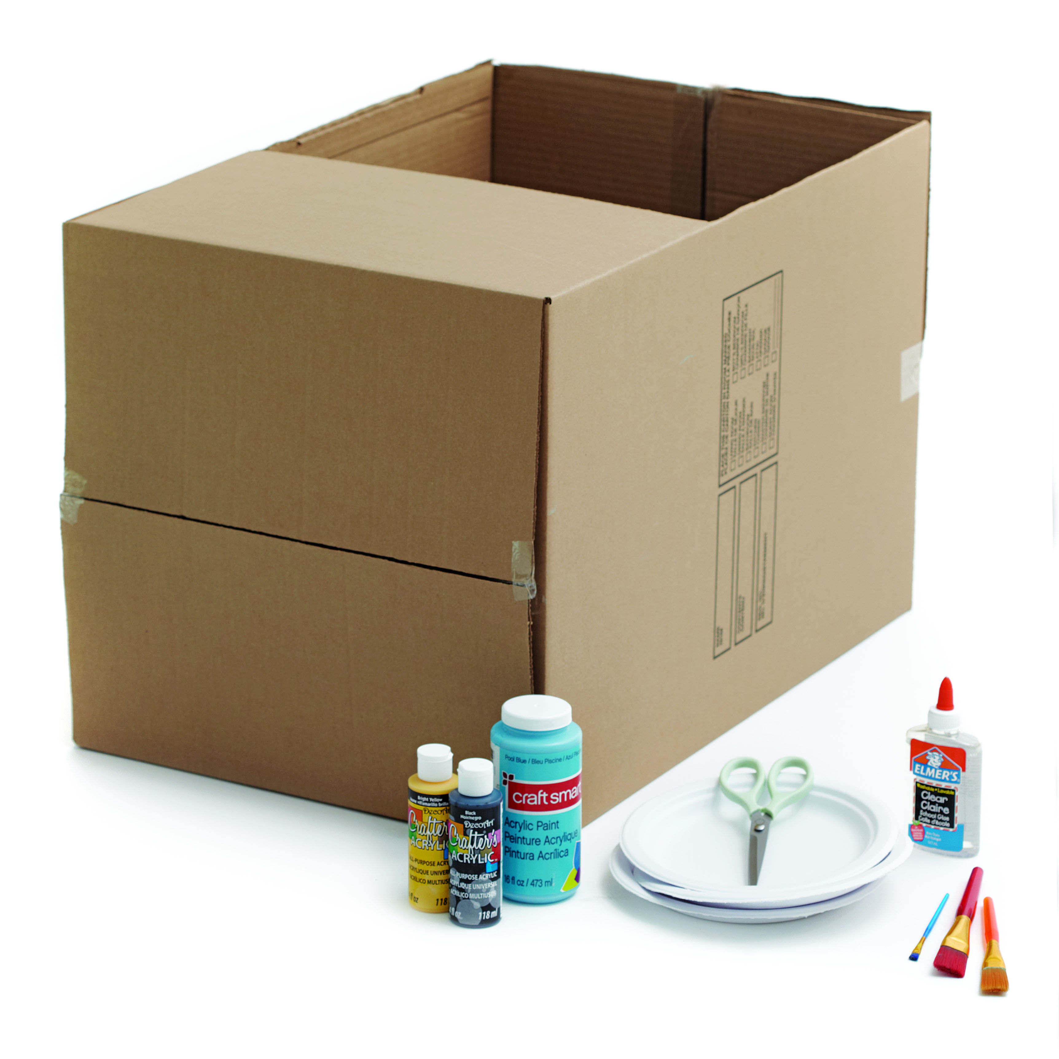 Craft how to make a box car craft cardboard car and for How to build box steps