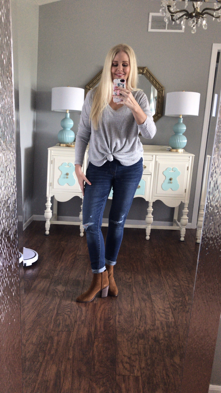 Target Fall Try On Session White Long Sleeve Tee Cozy Outfit Target Style