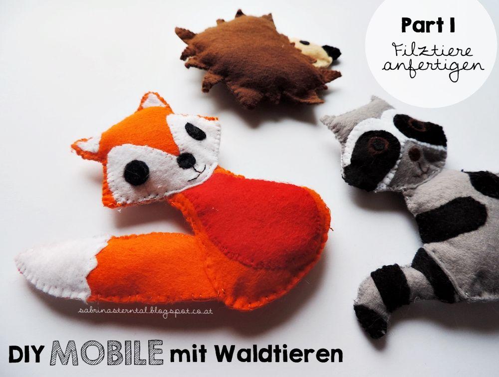 Starlights in the Kitchen*: [DIY] Mobile mit Waldtieren fürs ...