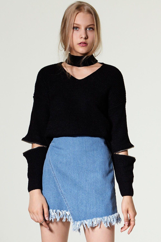 48ba4c6a1c73 Dena Denim Wrap Skirt Discover the latest fashion trends online at  storets.com  storets shop    storets online store