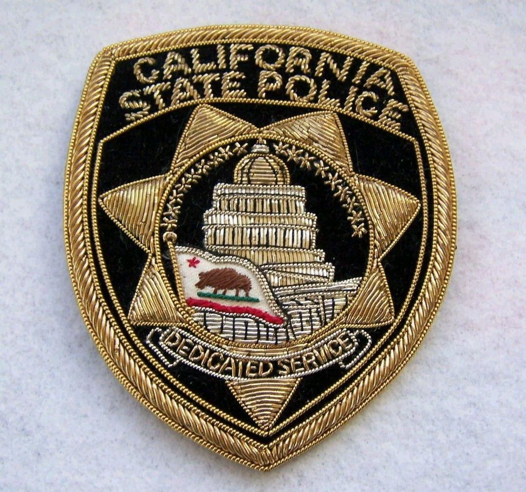 California state police patch police badge police