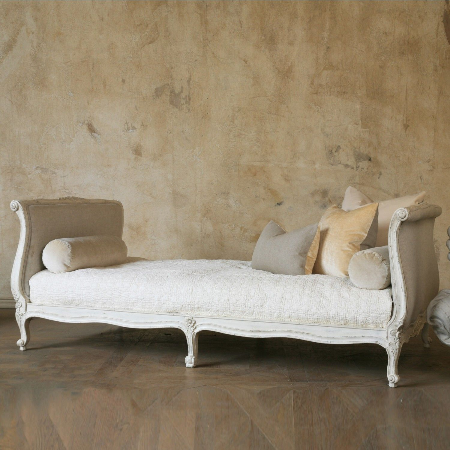 Twin Clignancourt Daybed in Swedish Antique White $2,745.00 #thebellacottage