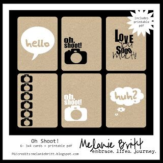 Free chipboard journal cards. Melanie Britt | embrace.lifes.journey. #projectlife #digitalprojectlife