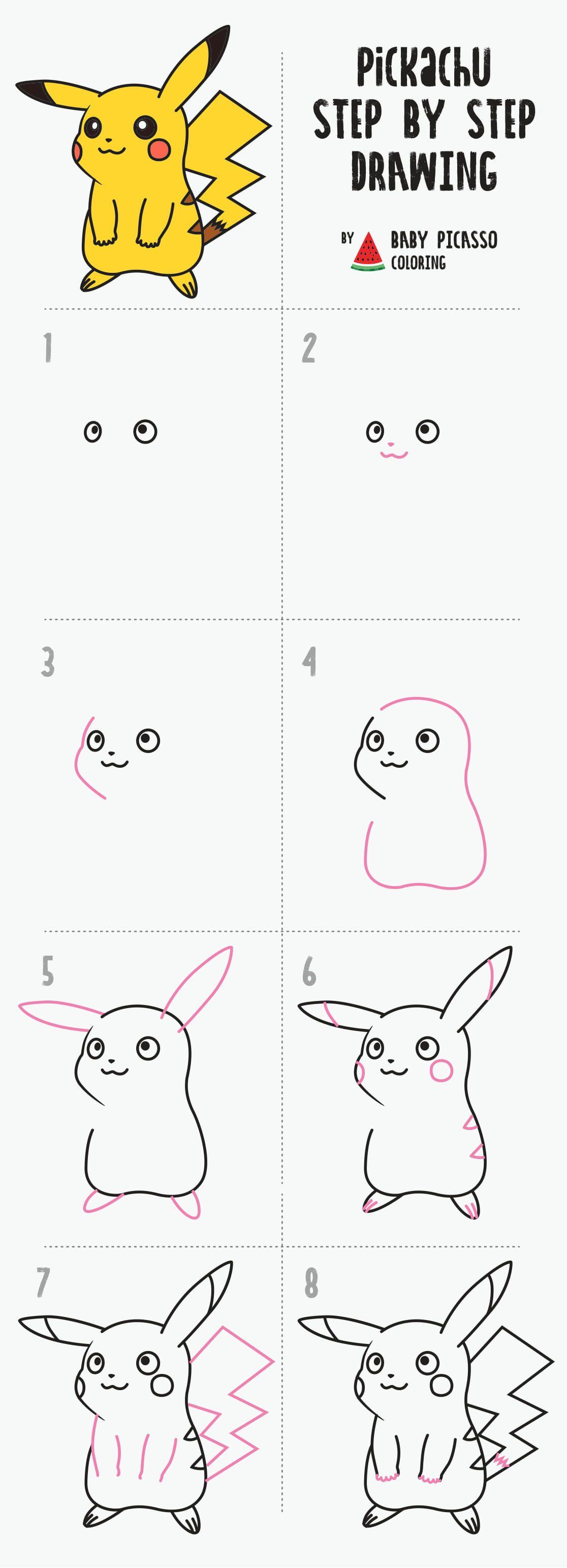 Pikachu Pokemon Sand Coloring Best Art Activities Youtube Easy Pokemon Drawings Cute Easy Drawings Pikachu Drawing