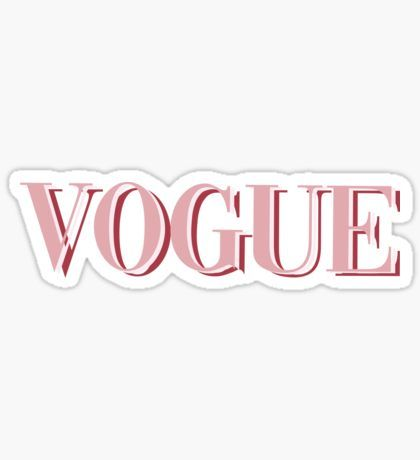 'Pink Vogue ! Fashion Magazine, Stylish, and Cute' Sticker by emeraldssun