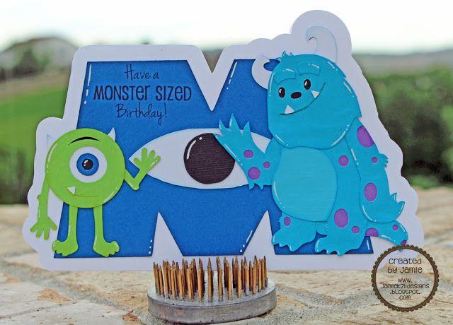 Monsters Inc Birthday Card My Creations Pinterest Birthdays