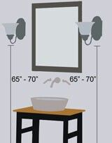 Wall Light Height Bathroom Wall Sconces Bathroom Sconces Bathroom Sconce Lighting