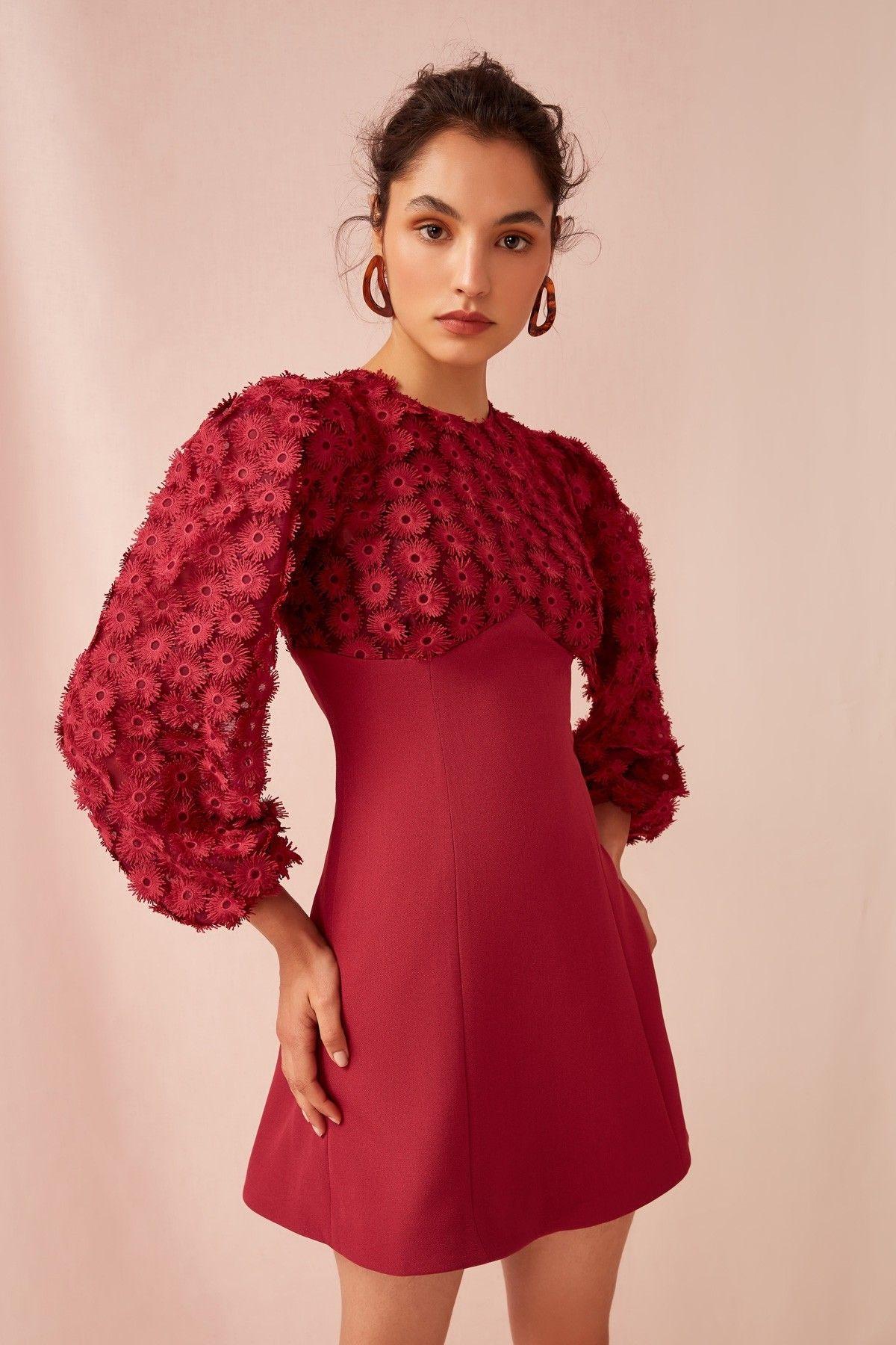 c585d72b3024 KEEPSAKE MIRRORS LONG SLEEVE DRESS raspberry in 2019