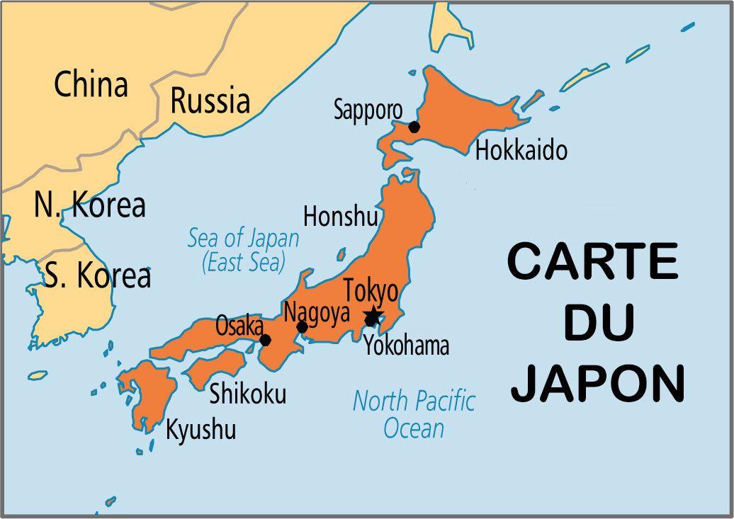 Carte du Japon | trucs école | Pinterest | Geo
