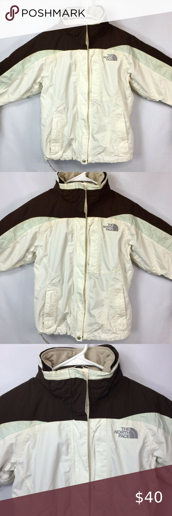 The North Face Hyvent Ski Jacket 2 In 1 Womens The North Face Hyvent Ski Jacket 2 In 1 Brown Cream M Condition Is North Face Hyvent Ski Jacket The North Face [ 1740 x 580 Pixel ]