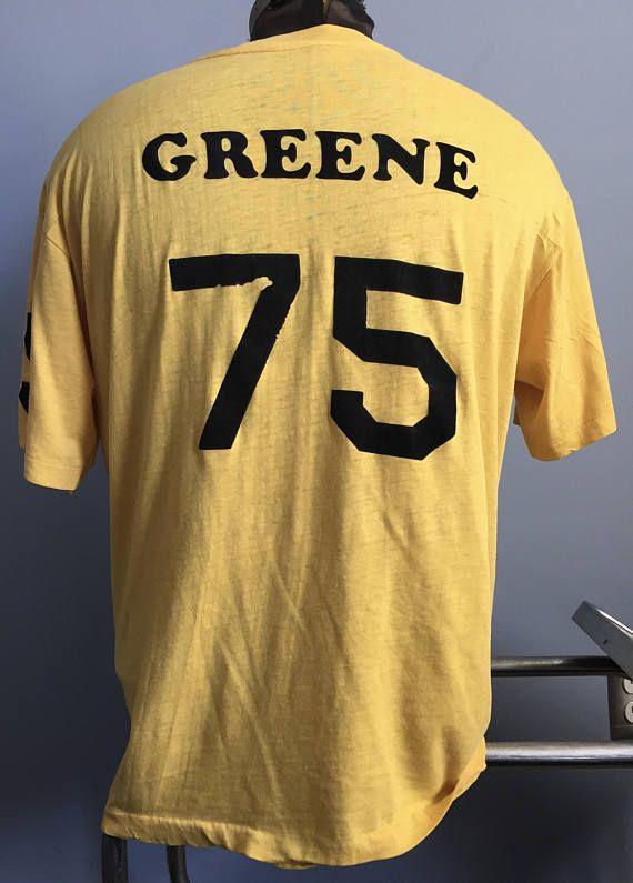 hot sales 0b111 aa117 70s 80s Vintage Pittsburgh Steelers Mean Joe Green #75 nfl ...