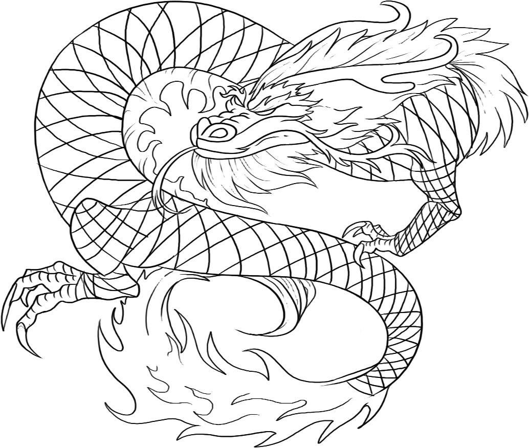realistic dragon coloring pages for adults free printable