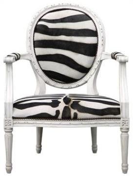 Zebra-Printed Louis Chair   Chair Project   Pinterest ...