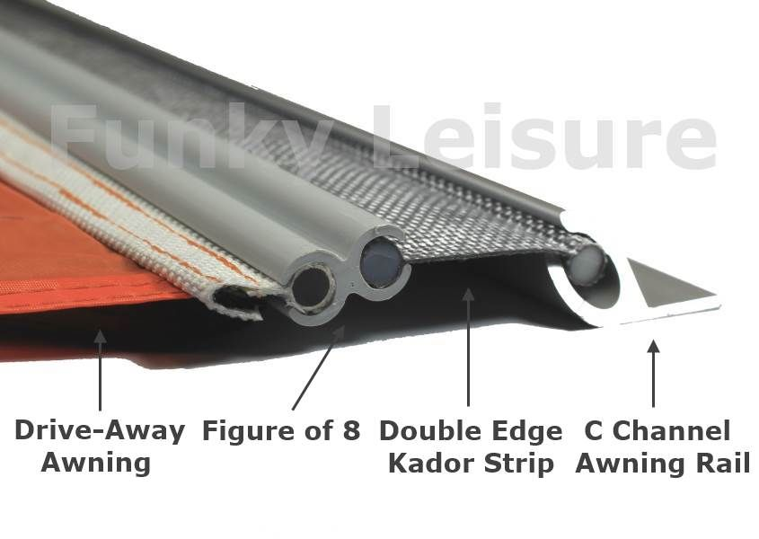 Vw T5 T6 Pre Drilled C Channel Awning Rail Vw T5 Awning Vw Campervan