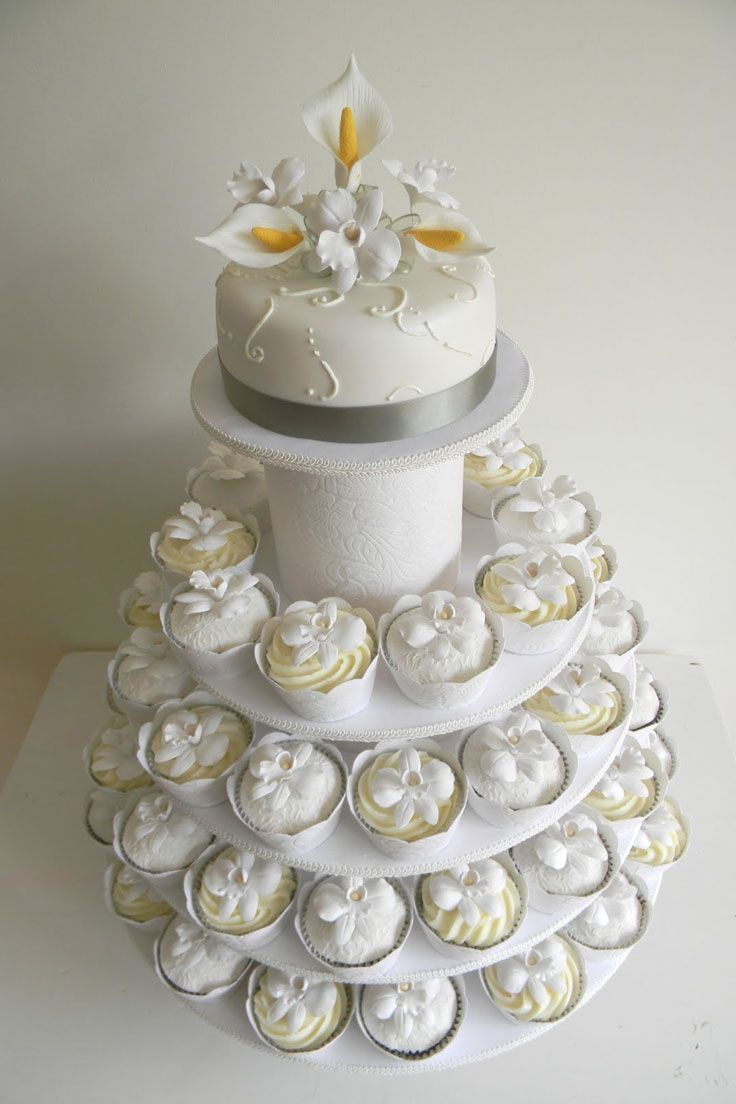 Pictures Of Cupcake Wedding Cakes | Pinterest | Wedding cake, Cake ...