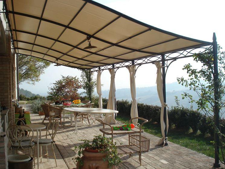 Anbaupergola Metall tettoia per abitazione in ferro battuto | house and garden