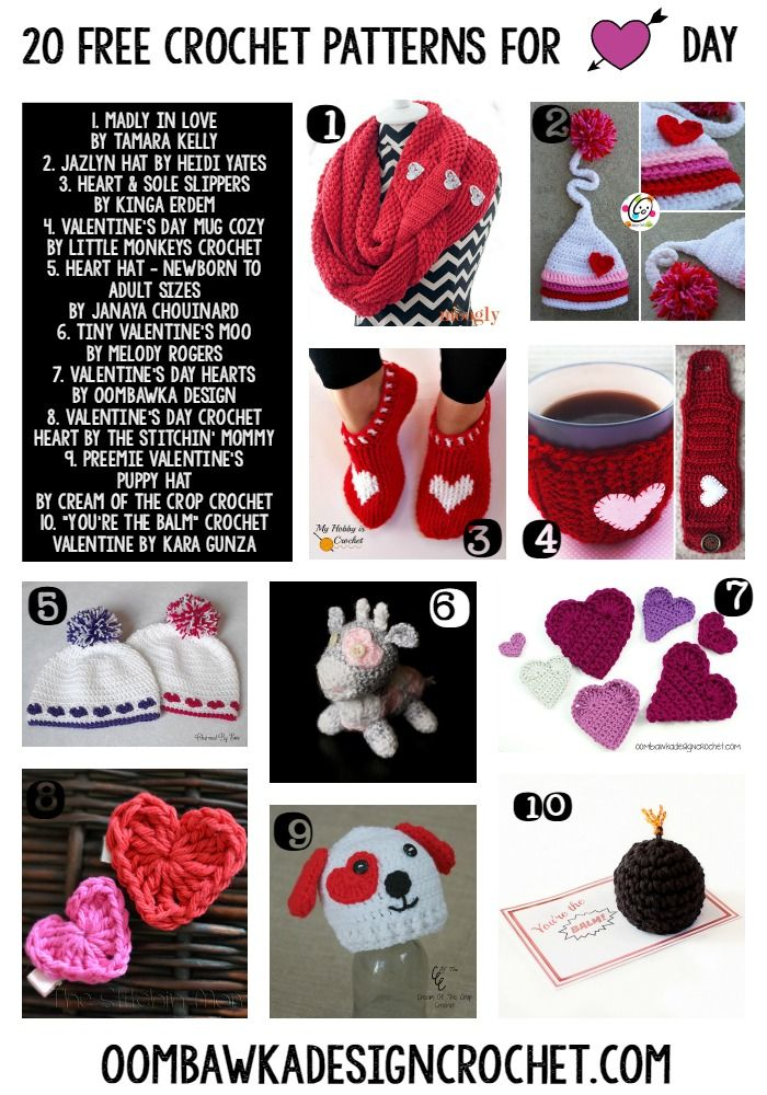 20 Free Crochet Patterns For Valentines Day Meladoras Creations