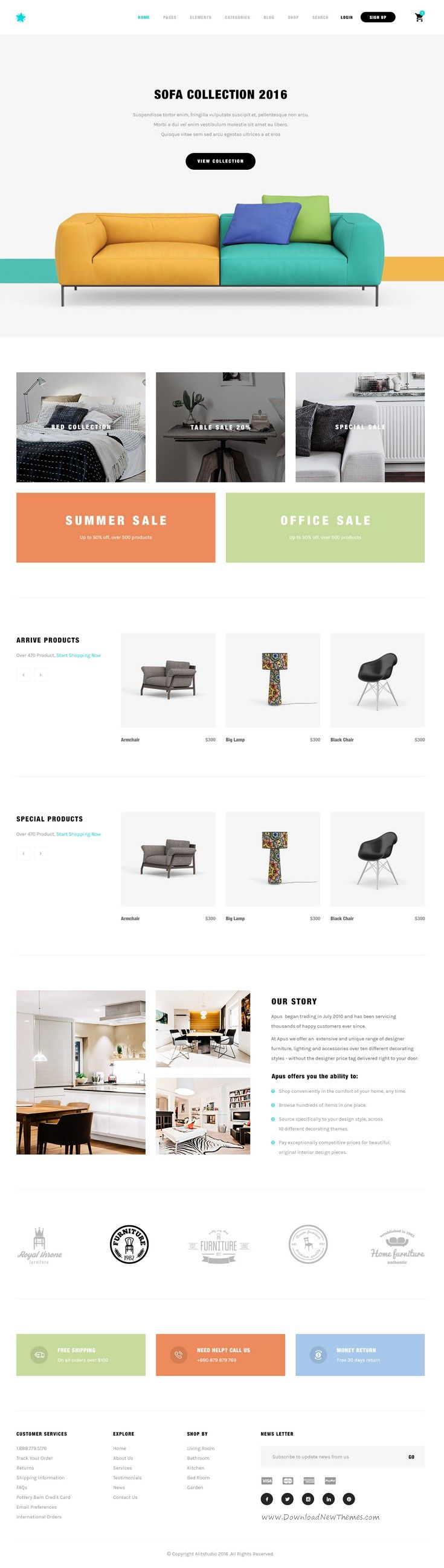Apus Is A Uniquely Designed 15 In 1 Ecommerce Website Template