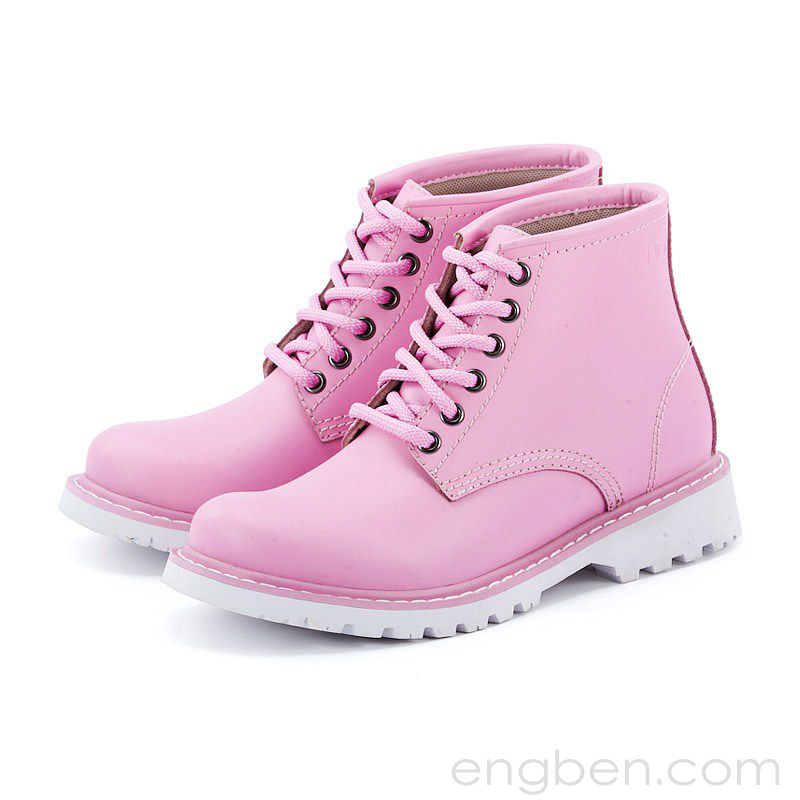 Women\'s Fresh Colored Leather Boots Pink